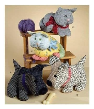 Vintage PDF Download Your Buddies Animal Soft Toy Cats and Dogs Sewing Pattern