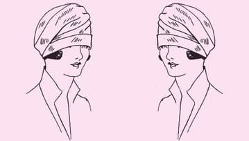 Vintage Twenties Instructional Sewing Pattern to make an Easy Quick Ladies Pretty Draped Cloche Ha