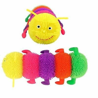 Light Up Puffer Caterpillar Fidget Toy