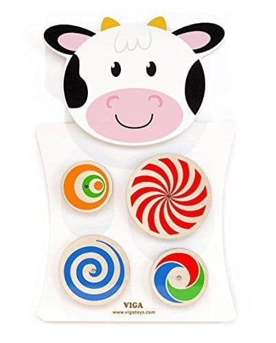 Sensory Cow Turning Wooden Wall Panel