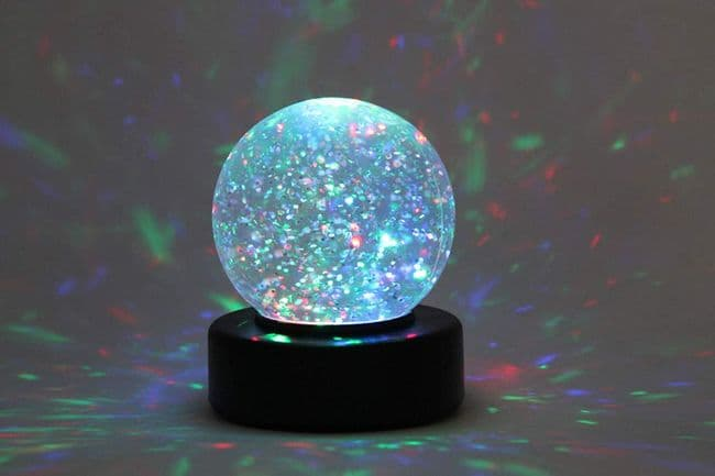 Sensory Light Globe LED Glitter Ball