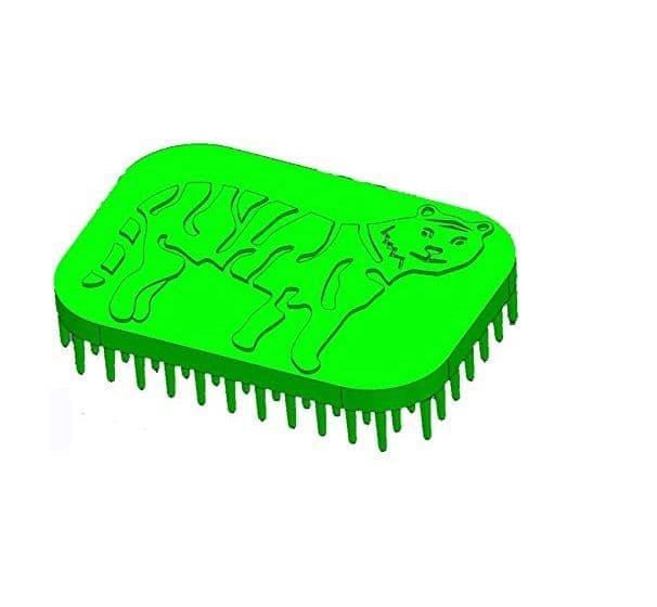 Tactile Sensory Brush - Green Tiger