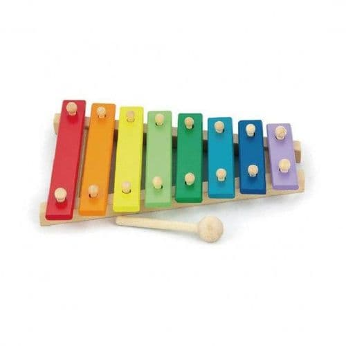 Wooden Coloured Xylophone Music Toy