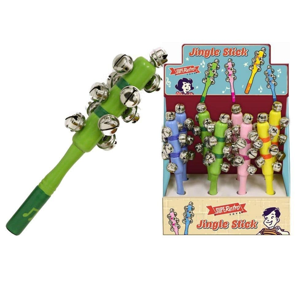 Wooden Jingle Bell Stick Music Toy