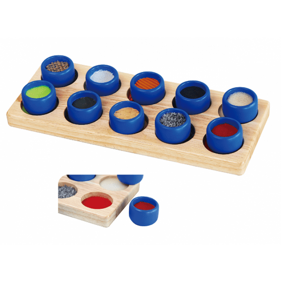 Wooden Tactile Touch & Match Toy