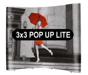 3x3 Curved Pop Up From £355+VAT. High Quality Magentic Pop Up System