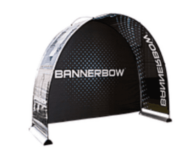 Bannerbow Fabric Arch