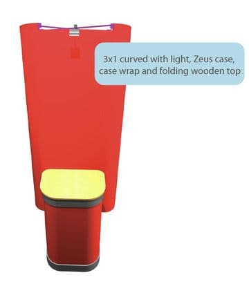 Curved 3x1 Velcro Pop Up