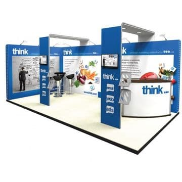 Custom Look  Modular Exhibition Stands At A Fraction of The Cost!