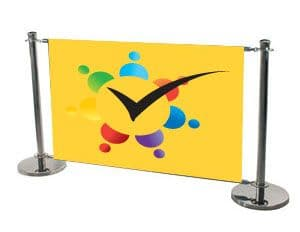 Lowest Cost Cafe Barrier With Graphic Panel