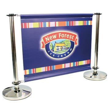 PREMIUM CAFE BARRIER IN STAINLESS STEEL