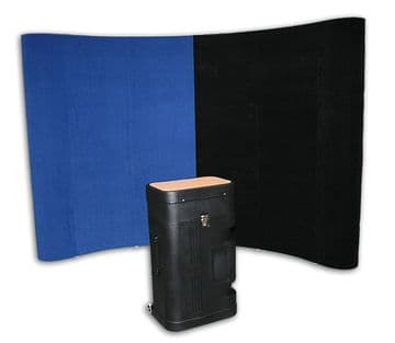 Velcro Fabric Pop Up In Black Or Blue