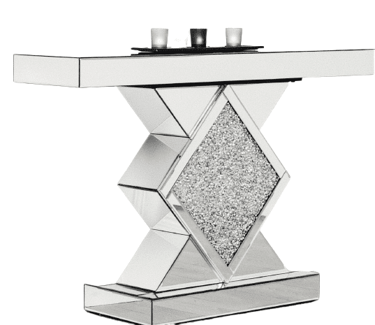 Crushed Diamond Console Table DMND