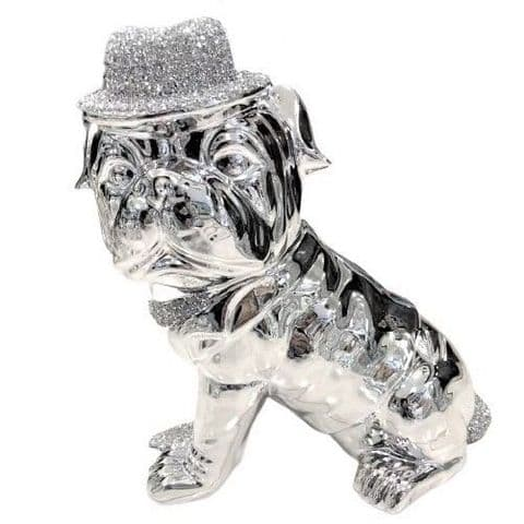 Crushed Diamond Dog With Hat