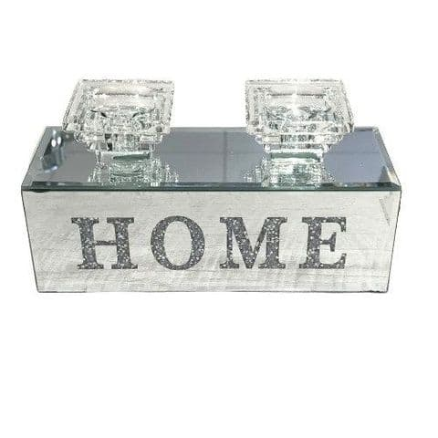 Crushed Diamond Double HOME Candle Holder
