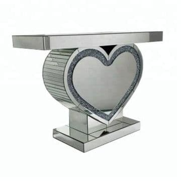 Crushed Diamond Heart console table