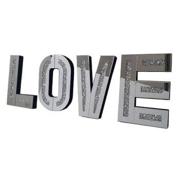 Crushed Diamond LOVE Letters