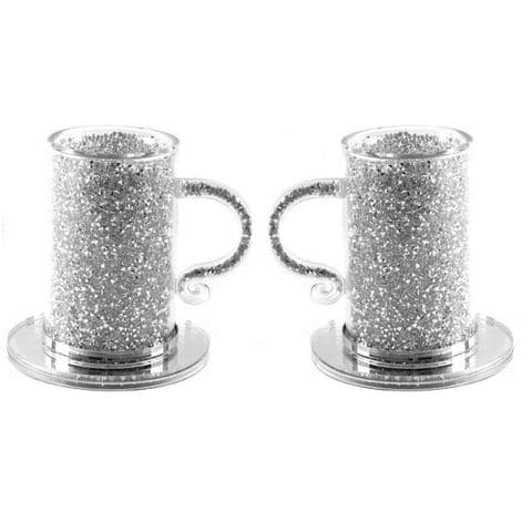Crushed Diamond set of 2 Cup and Saucer
