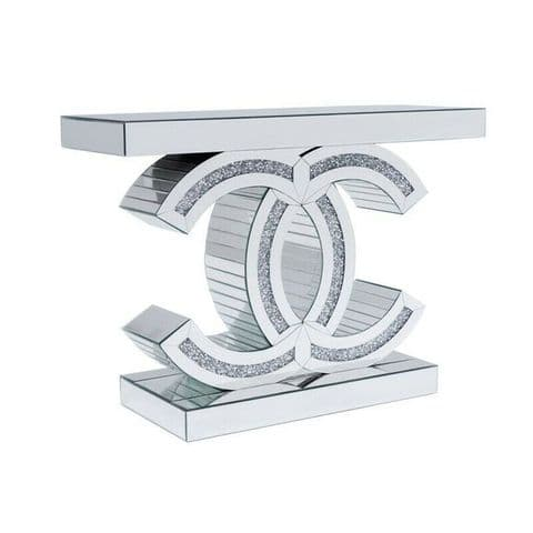 Crushed Diamond Z console table