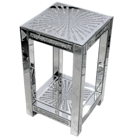 Mirrored Bedside Stand 3