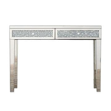 Venetian mirrored Diamond Crushed  Console Table DS