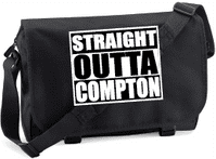 STRAIGHT OUTTA COMPTON M/BAG - INSPIRED BY NWA  ICE CUBE EAZY-E DR.DRE