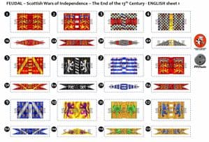 BFL2000  Feudal: Scottish Wars of Independence  End of the 13th Century  English Sheet 1