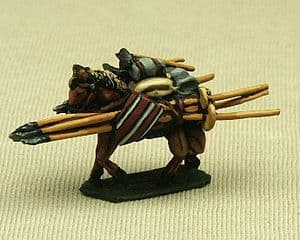 CB03 Baggage Horse with Frame (medieval)