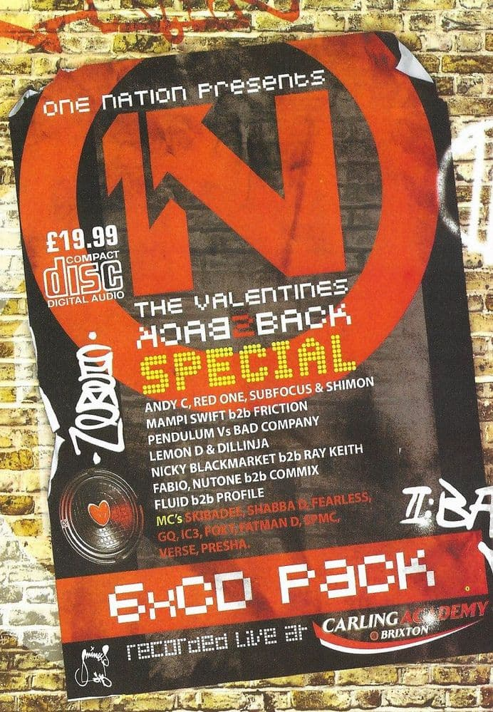 One Nation - Valentines Back 2 Back Special - 2006 - CD Pack