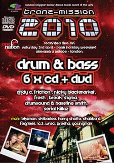 Tranzmission 2010 Drum & Bass CD Pack