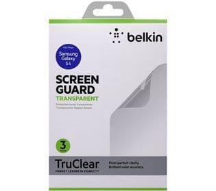 Belkin Samsung Galaxy S4 Transparent Screen Guard | Pack of 3