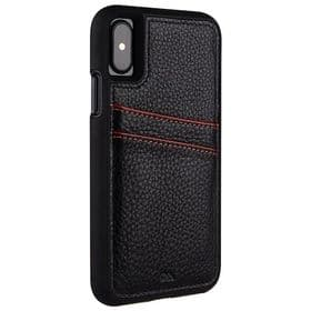 CaseMate iPhone X / XS Tough ID Premium Leather Case | Black