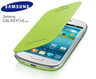 Samsung Galaxy S3 Mini i8190 Genuine Flip Case | Mint Green
