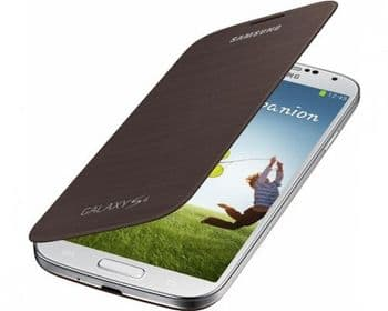 Samsung Galaxy S4 Genuine Flip Cover | Brown