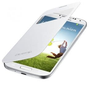 Samsung Galaxy S4 S View Genuine Premium Cover | White