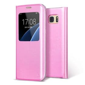 Samsung Galaxy S7 Edge Hoco View Case | Pink