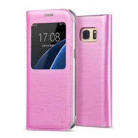 Samsung Galaxy S7 Hoco View Case | Pink