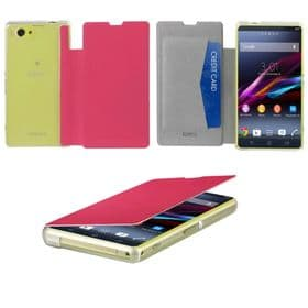 Sony Xperia Z1 Compact Roxfit Book Case View | Hot Pink