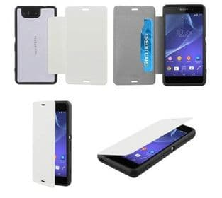 Sony Xperia Z3 Compact Roxfit Gel Shell Flip Plus Case | White