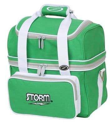 Storm Single Tote Bag- Green/White