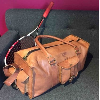 Paper High Leather Holdall
