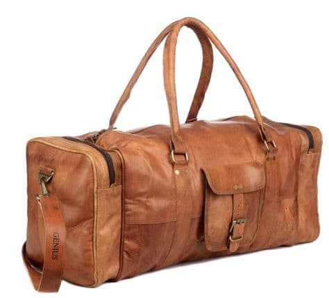 Paper High Leather Holdall Zipped
