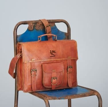 Paper High Leather Satchel