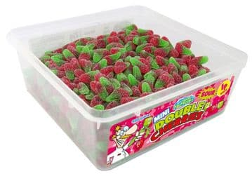 Candy Factory Mini Sour Double Cherries Tub Of 800 (HALAL)