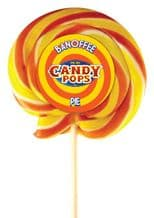 """Candy Pops Banoffee Swirly Lolly 4"""" 10cm"""
