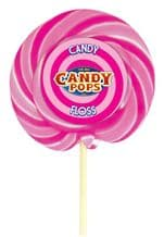 """Candy Pops Candy Floss Swirly Lolly 4"""" 10cm"""