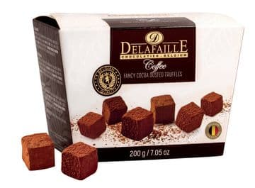 Delafaille Coffee Belgian Cocoa Dusted Truffles 200g