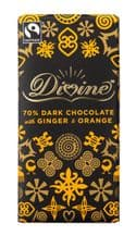 Divine Fairtrade Chocolate With Orange & Ginger 90g