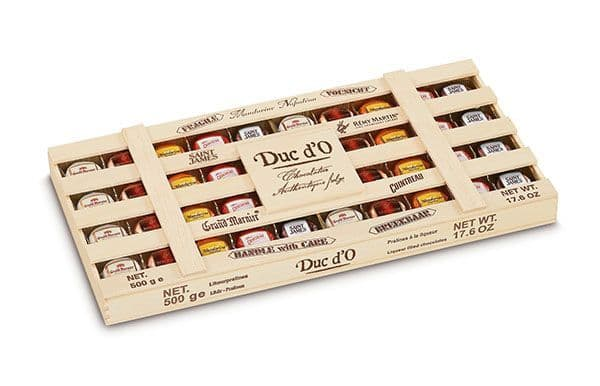 Duc d'O Liqueurs in Wood Crate 500g