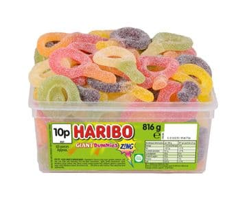Haribo Giant Zing Dummies Tub Of 60